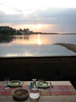 diner au soleil couchant