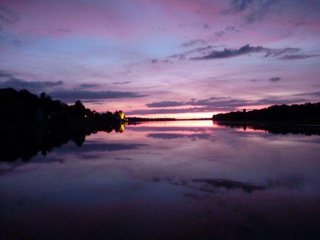 Concher de soleil sur la Loire